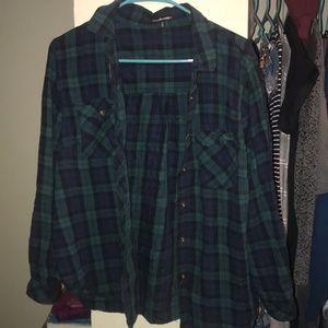 Blue & green flannel